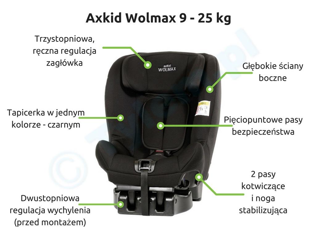 Fotelik samochodowy Axkid Wolmax 9 - 25 kg