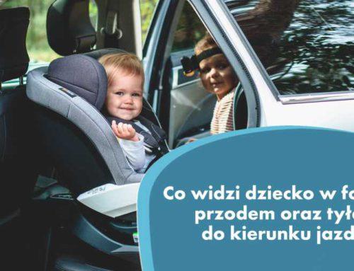 Co widzi dziecko w foteliku przodem oraz tyłem do kierunku jazdy? Tylem.pl obala mit!